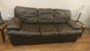 Leather composite couch