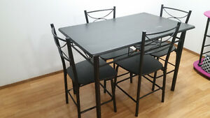 Moving sale five sitter couch and dinning table with 4 chairs