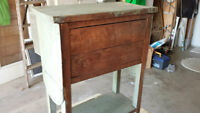 Small antique doll cupboard