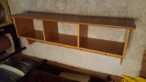 Wall coat rack with Cubbies