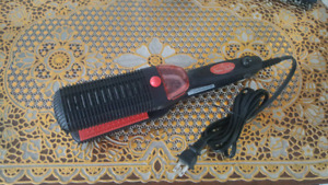 Water filled hair straightener