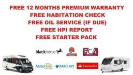 Hobby Van Exclusive FORD 3 BERTH 4 TRAVELLING SEATS MOTORHOME