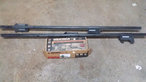 Yakima roof rack bars and factory side rails