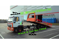 2004 MAN/ ERF L 2000 TILT BED WITH WINCH RECOVERY TRUCK NO VAT