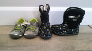 Toddler shoes and rain boots - size 5 & 6