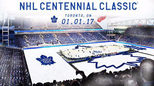 Centennial Classic hockey tickets! Leafs vs Red Wings Jan 1,2017 Cornwall Ontario image 1