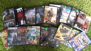 Gros lot de jeux pour pc