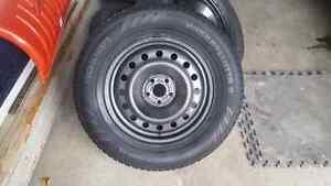"""Nokian hakkapeliitta winter tires 16"""" steel rims"""