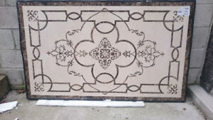 "36""X60"" POLISHED MARBLE INLAY FLOOR MEDALLION / ART"