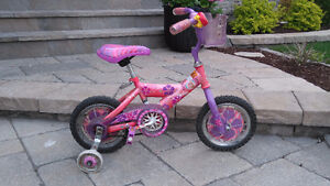 """Barbie 12"""" bicycle with training wheels"""