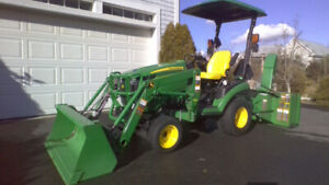 23.9 hp John Deere Sub Compact Tractor and Attachments