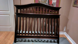 Crib set - solid wood, espresso color