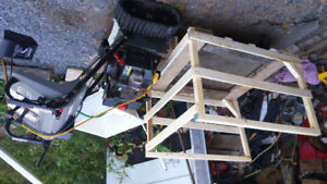 TRACK DRIVE 8/16 CRAFTSMAN SNOWBLOWER+FRONT CART FOR FIREWOOD