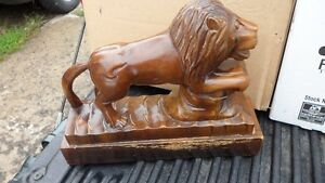 Large Lion Carving $40. 10 inches tall by 13 inches long. Prince George British Columbia image 1