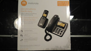 Brand New Motorola 6.0 Cordless/Corded M802C + Answering Machine