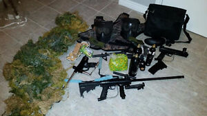 PAINTBALL SET COMPLETE ++