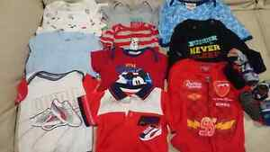 64 piece boys 3-9 months clothing lot