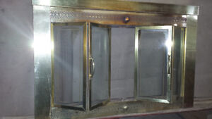 Fire place doors and rack