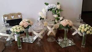Lolly Set Hire: 6 candy jar & 4 centrepiece & artificial flower Green Valley Liverpool Area Preview