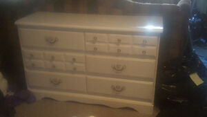 Wooden Dresser- Painted white- Asking 50