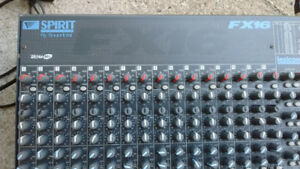 Soundcraft FX16 - 16 channel mixer ($100)