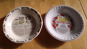 2 pie plates with built-in recipes!