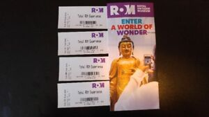 Royal Ontario Museum ROM Tickets and Water Table / Sand Table
