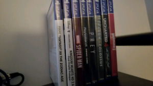 Ps4 games, Spiderman, Shadow of the Colossus and much more