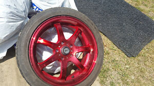 """Light weight performance rims 17"""" and tires"""
