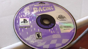 Nicktoons racing ps1 game disc only