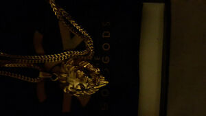 Lion head gods gold necklace usually $110
