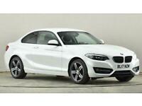 2017 BMW 2 Series 218d [150] Sport 2dr [Nav] Coupe diesel Manual