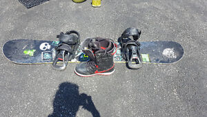 BURTON Snow board with NIKE boots size 11