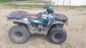 99 polaris 400 quad, helmet and ramps