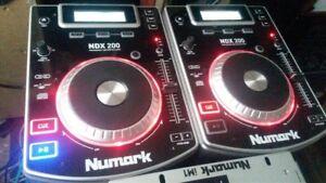 kit dj lecteur cd double pitch et mixer