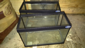 2 small fish tanks
