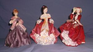 3 Beautiful Porcelain Ladies $50 each