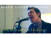 Professional singer and acoustic guitarist for weddings and events!