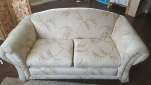 Loveseat and arm chair