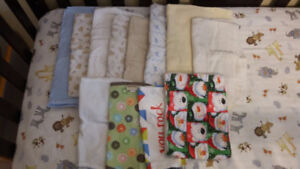 Receiving Blankets and Burp Cloths