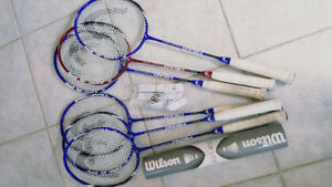 Badminton rackets and shuttlecocks for sale!