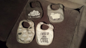 4 Gender Neutral Bibs