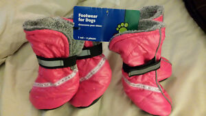 pink reflective doggie booties
