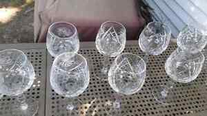 Pinwheel crystal glasses Kitchener / Waterloo Kitchener Area image 2