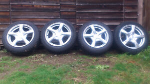 Set of 4 winter tires, mounted on rims North Shore Greater Vancouver Area image 2