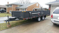 Double A 16' Flat Deck Trailer