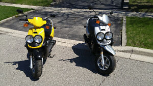 TWO Yamaha BWS 50cc Scooters - $1200 Each