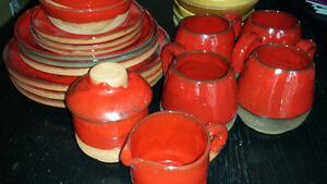 TERRACOTTA DISH SET, HAND MADE IN QUEBEC 1970'S West Island Greater Montréal image 1