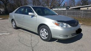 2002 Toyota Camry 4 CYL.RUNS GREAT LOW KMS. ONLY $2400obo.