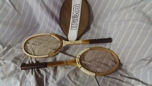Vintage His and Hers Racquets